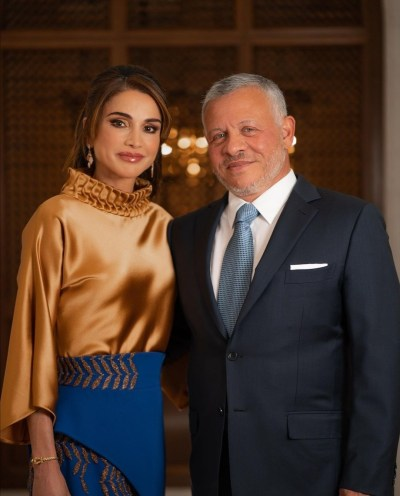 King Abdullah and Queen Rania - Photo from Queen Rania's Instagram account