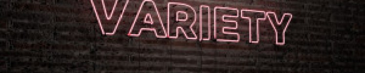VARIETY -Realistic Neon Sign on Brick Wall background