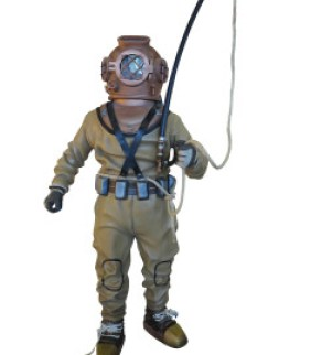 Diving suit equipment isolated over white