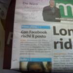 metro - con facebook rischi il posto
