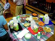 Dottie's much-appreciated refreshments table