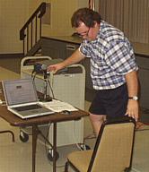 Ken Jurgensen gets ready for the presentation. (Photos: Brian Carlin)
