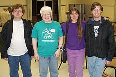Members of the SB Linux Users Group visit SBMUG. Donald is second from left. (Photo: Brian Carlin)