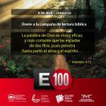 Unete a la campaña de lectura de la Biblia E100