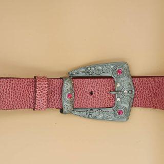 4π 100% δέρμα σε χρώμα Spring Rose με σετ εγγράφα - θηλίκι με στρας. Στην συλλογή μας με γυναικείες ζώνες