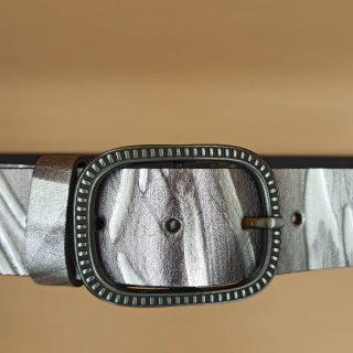 4π δέρμα 100% χρώμα smoked silver, με σκαλιστή έγγραφα