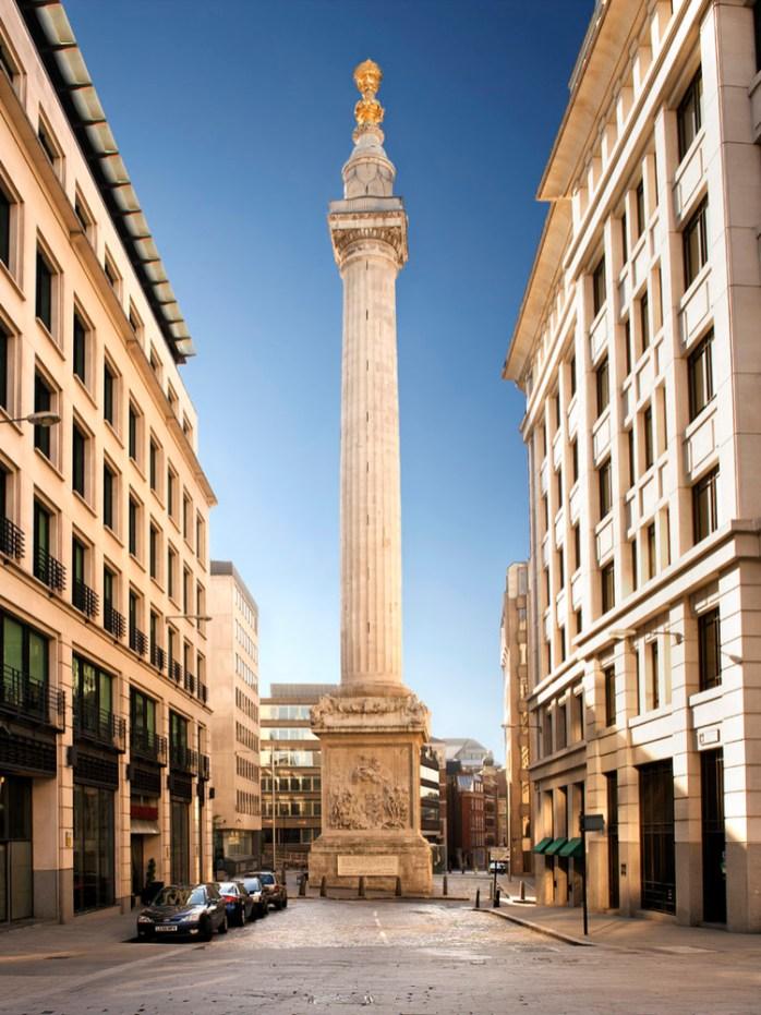 The Monument, recordatorio del gran incendio de 1666