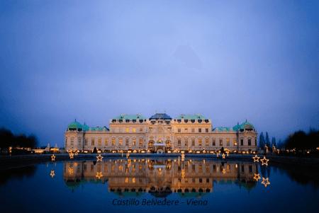 Anochecer en el Castillo Belvedere - Viena