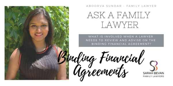 Lawyer involvement Binding Financial Agreement - Family Lawyer Sydney