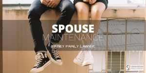 spouse maintenance family lawyers sydney