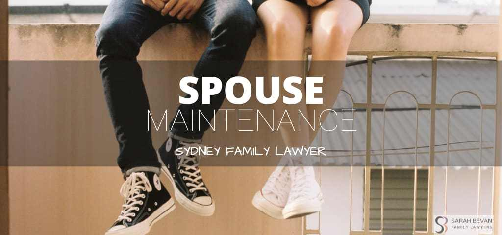 spouse maintenance family lawyers sydney