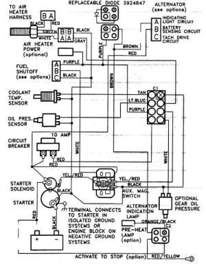 6BTA 59 & 6CTA 83 Mechanical Engine Wiring Diagrams