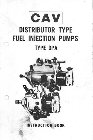 Lucas CAV DPA Injection Pump Instruction Book  Seaboard
