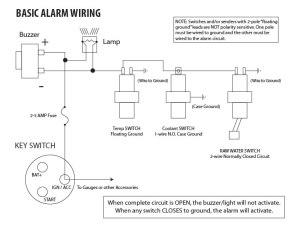 Basic Engine Alarm Wiring Example  Seaboard Marine
