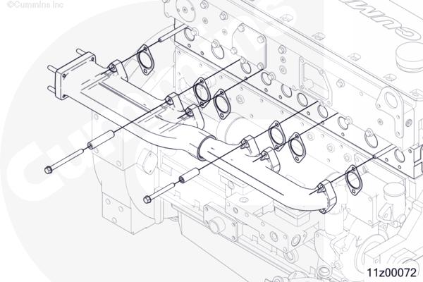 cummins marine qsm11 exhaust manifold kit