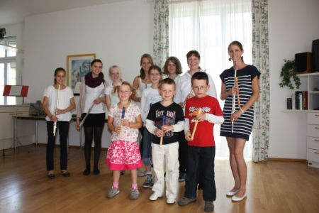 Konzert der Quer- und Blockflötenschüler