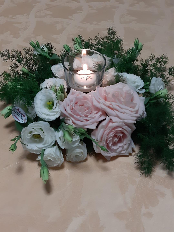 centrotavola fiori candele