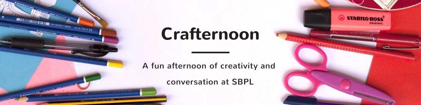 Stop by for our weekly Crafternoon event at South Brunswick Library