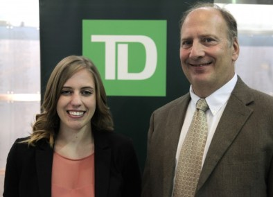 Taylor Morriseau, TD Bank Student Award, June 2015