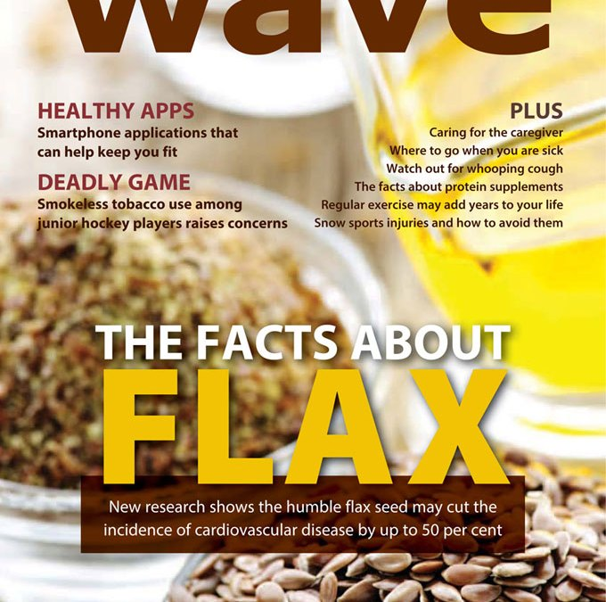 WRHA's WAVE magazine features flax study
