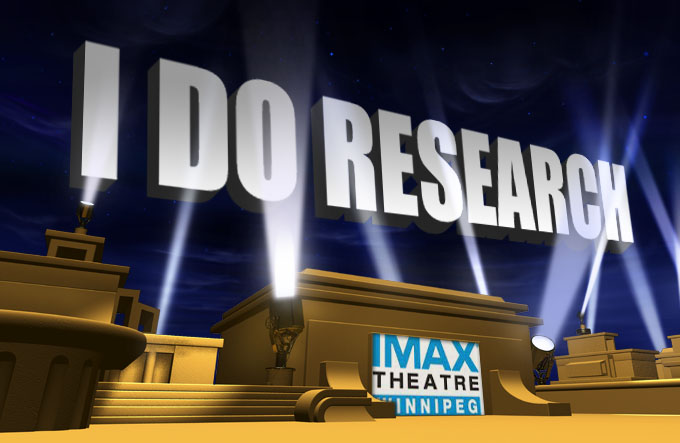 """""""I do Research"""" hits IMAX screen!"""