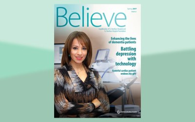 St. B Research partnership, rTMS technology, patent highlighted in Believe