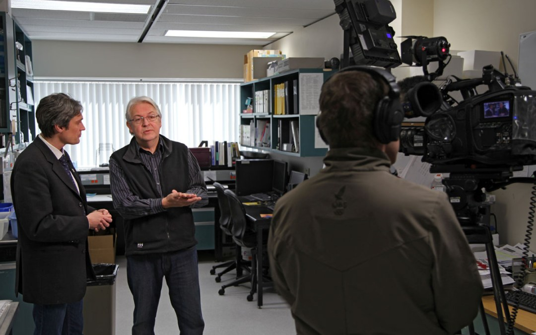 Dr. Fernyhough being interviewed