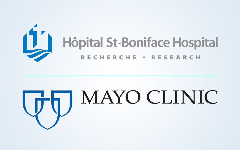 St. Boniface Hospital Research and Mayo Clinic logos