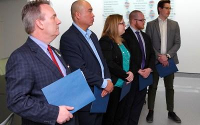 PC Caucus Members Take a Tour