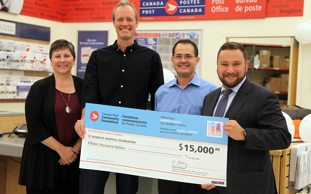 Canada Post Community Foundation $15,000 Gift to Youth BIOlab