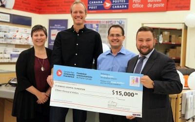 Canada Post Community Foundation $15,000 Gift to Youth BIOlab