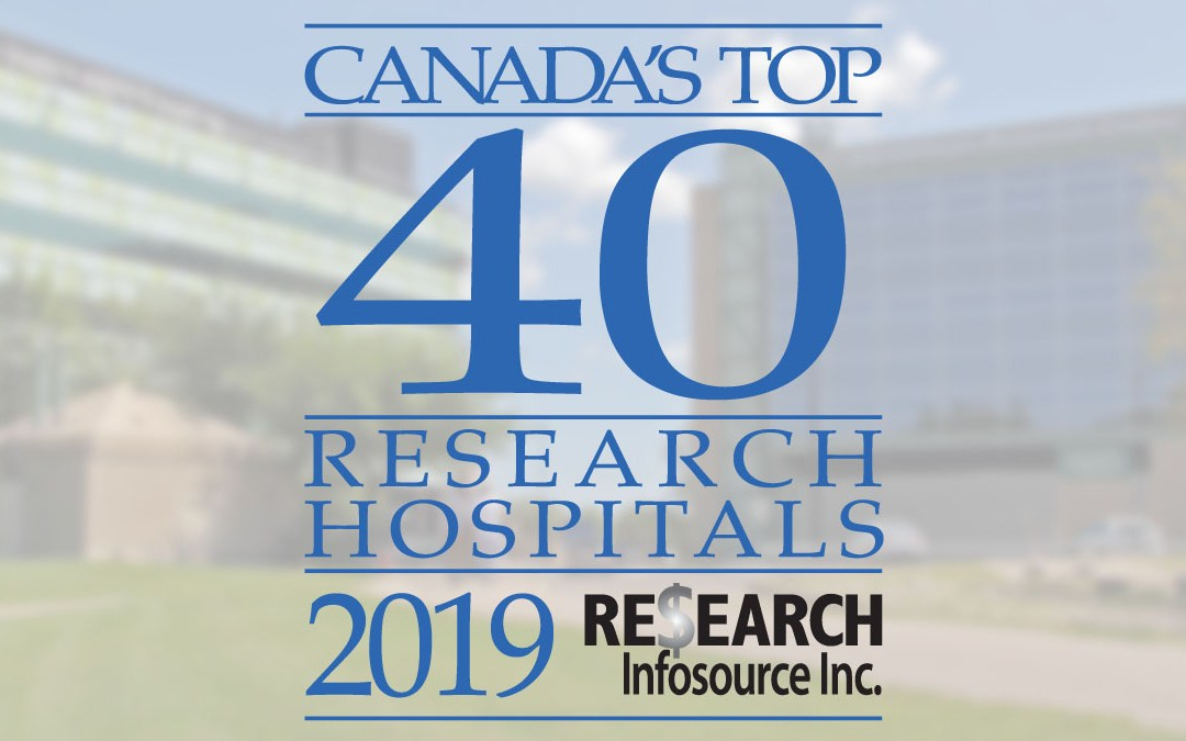 St. Boniface ranked #1 research-intensive hospital in Western Canada
