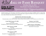 Hall of Fame Banquet – May 24, 2010