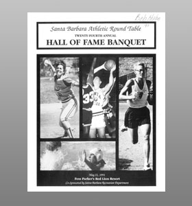 Santa Barbara Athletic Round Table 1991 Hall of Fame Banquet Cover