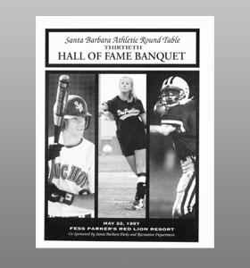 Santa Barbara Athletic Round Table 1997 Hall of Fame Banquet Cover