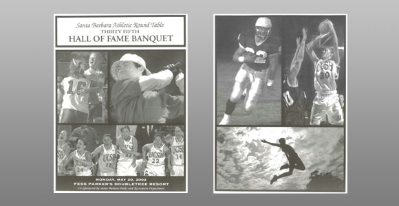 Santa Barbara Athletic Round Table 2002 Hall of Fame Banquet Cover