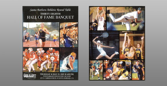 Santa Barbara Athletic Round Table 2005 Hall of Fame Banquet Cover