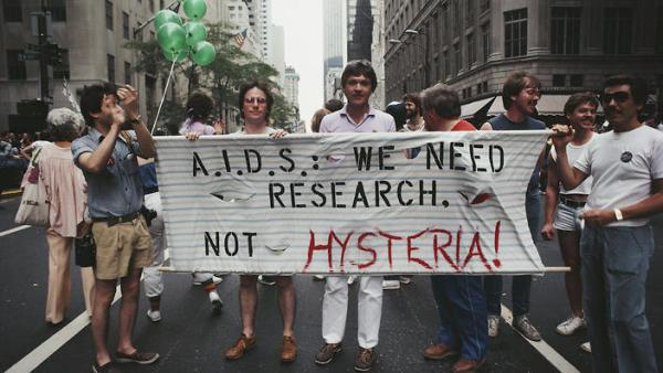 Image result for hiv aids protest 1980s