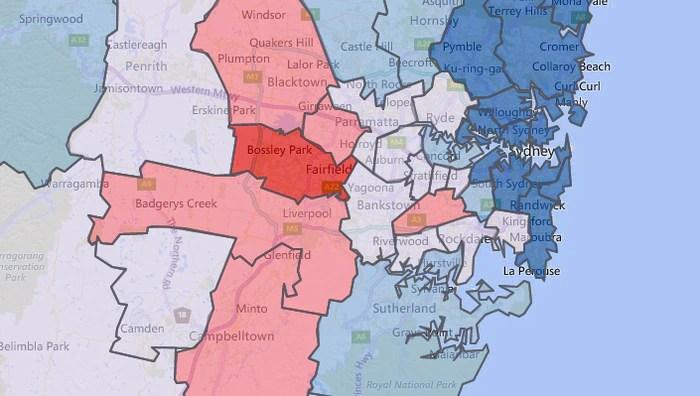 Diabetes Australia map of diabetes prevalence in Sydney