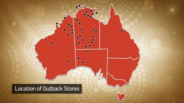 Location of Outback stores across Australia.