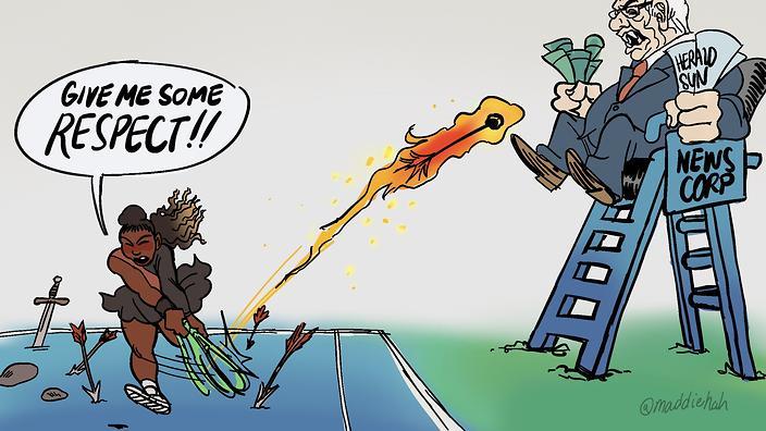 Cartoon Funny Strong Man
