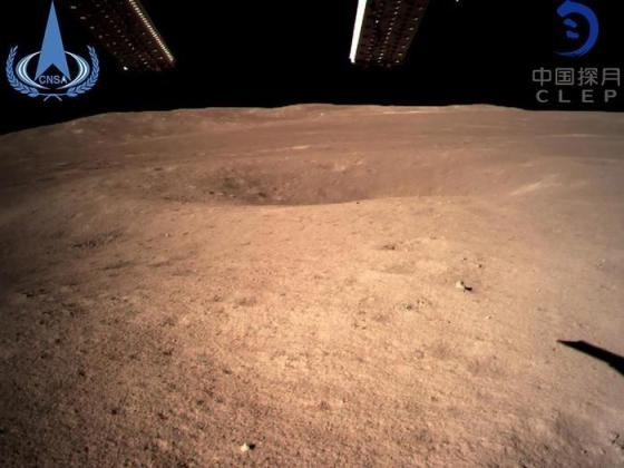 An image of the moon's far side by China's Chang'e-4 probe.