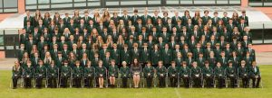 Large school year group photograph