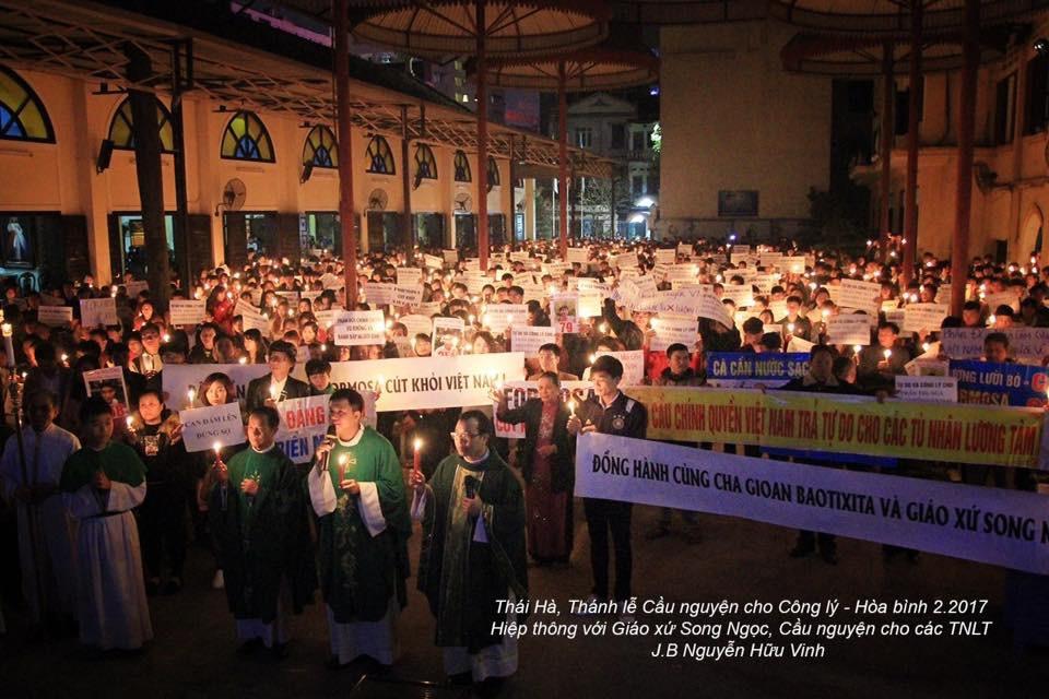 Giáo dân cùng lương dân khắp nơi hiệp thông với giáo xứ Song Ngọc cho công lý và hoà bình