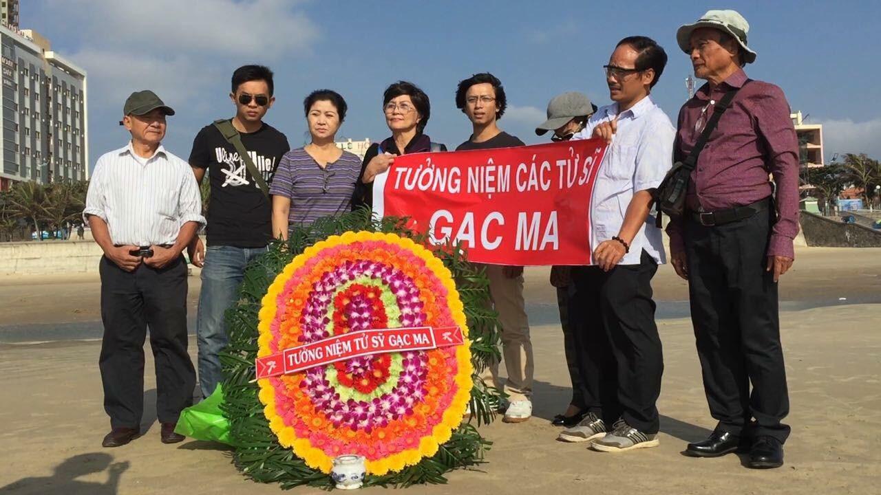 Thành viên CLB Lê Hiếu Đằng bị công an bắt cóc khi tưởng niệm 64 tử sĩ Gạc Ma