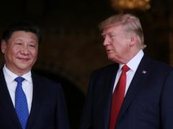 U.S. President Donald Trump welcomes Chinese President Xi Jinping at Mar-a-Lago state in Palm Beach, Florida, U.S.