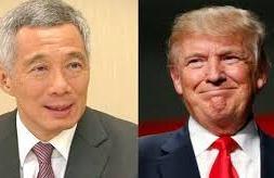 Lý Hiển Long và Trump (Channel NewsAsia)