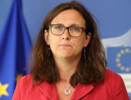 Cecilia Malmstrom, Member of the European Commission in charge of Home Affairs, and Bernard Cazeneuve, French Minister for the Interior press conference