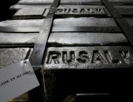FILE PHOTO: Aluminium ingots are seen stored at foundry shop of Rusal Krasnoyarsk aluminium smelter in Krasnoyarsk