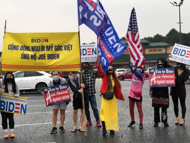 Tổ chức người Mỹ gốc Việt ủng hộ liên danh Biden-Harris tố chức vận động tại một số tiểu bang Hoa Kỳ